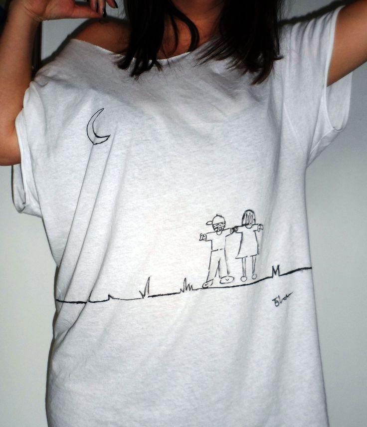 Trust your instinct. Progetto personale, creazione di t-shirt con disegno fatto a mano