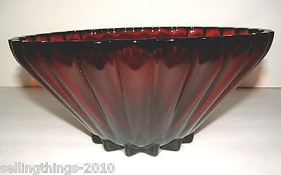 Anchor Hocking Classic Rachael Deep Round Serving Bowl in Royal Ruby | eBay