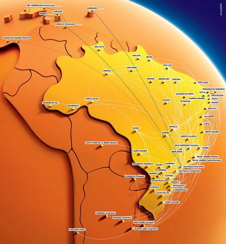 Gol Transportes Aereos route map