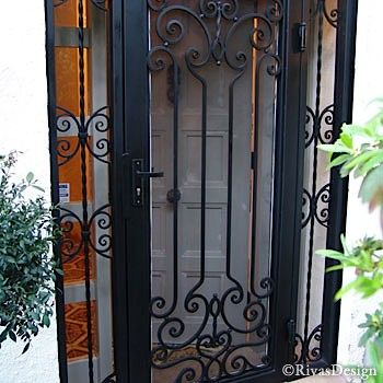 Best 25 Wrought Iron Security Doors Ideas On Pinterest