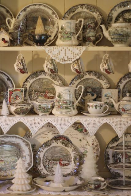 I like this dish pattern- Friendly Village by Johnson Brothers