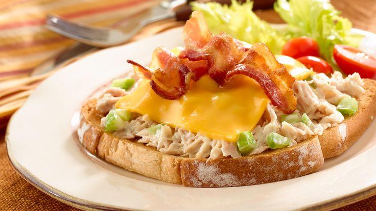 Toasted Tuna 'N Bacon Melts Recipe Bacon, Raw food