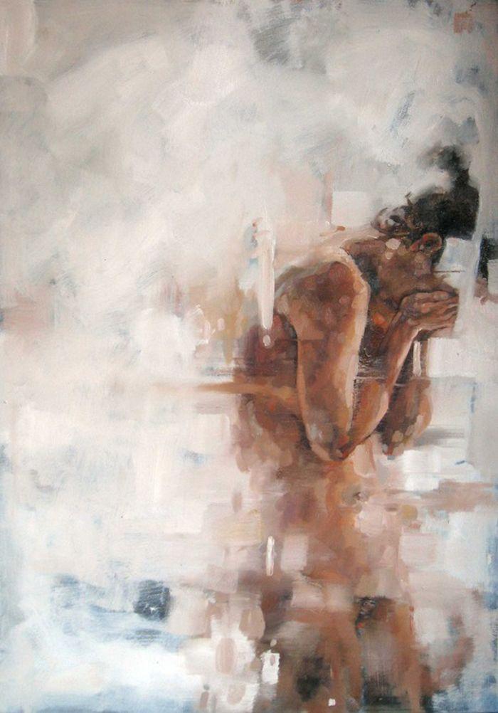 by Cesar Biojo /// bathroom mirror fogged up
