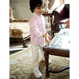 Boys Skirts Pink Long Sleeves for Page Boy Tuxedo Styles (1351555)