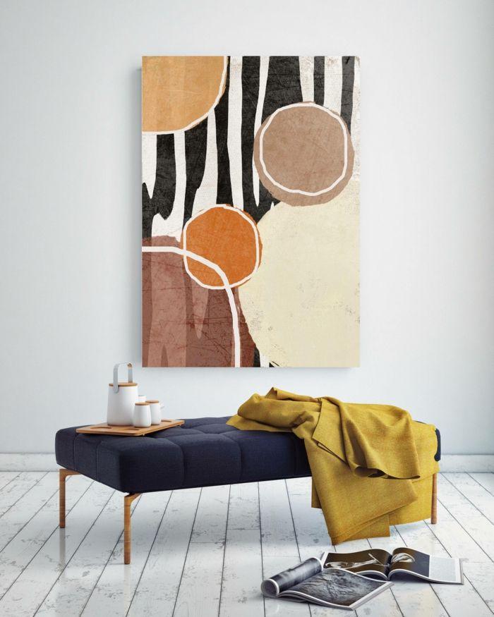 1001 Ideen Fur Bilder Furs Wohnzimmer Die Stylisch Und Modern Sind In 2020 Wanddekoration Moderne Kunstdrucke Leinwandkunst