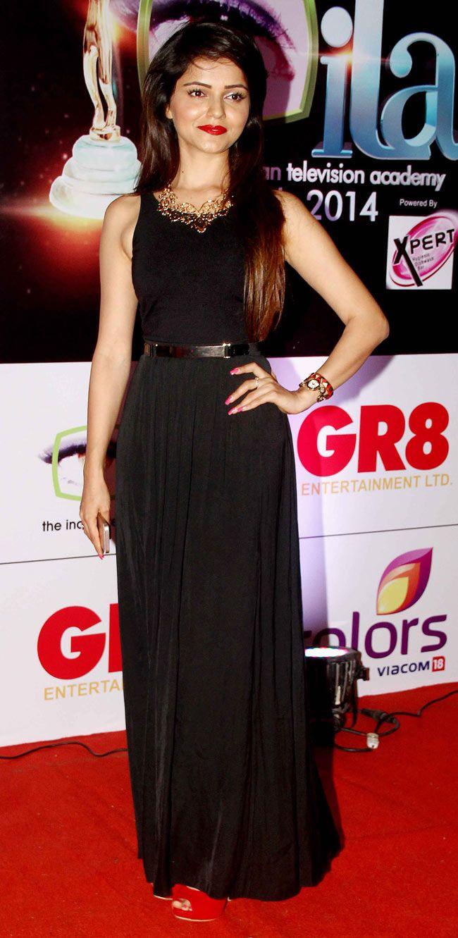 Rubina Dilaik at the 14th Indian Television Academy Awards 2014. #Bollywood #Fashion #Style #Beauty