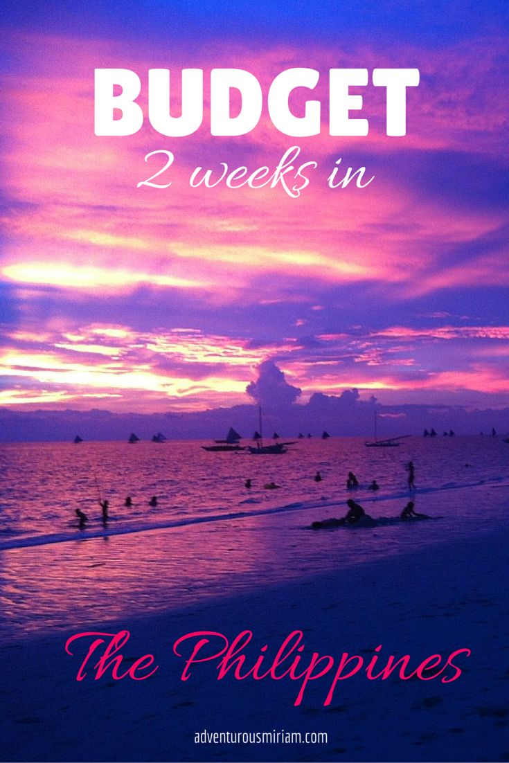 Budget for 2 weeks in the Philippines  #travel #southeastasia #philippines