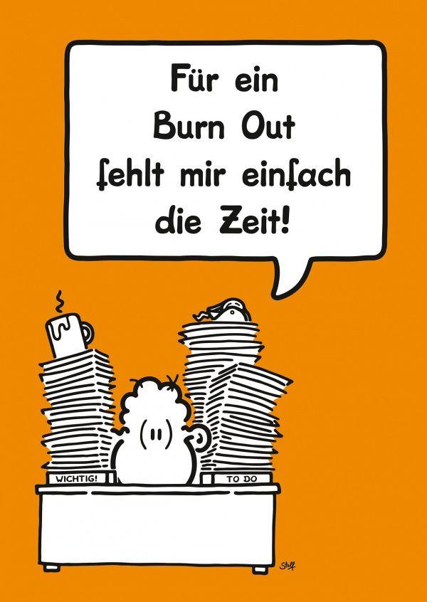 Burn Out | sheepworld | Echte Postkarten online versenden | sheepworld