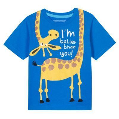 bluezoo Boy's blue giraffe print t-shirt- at Debenhams.com