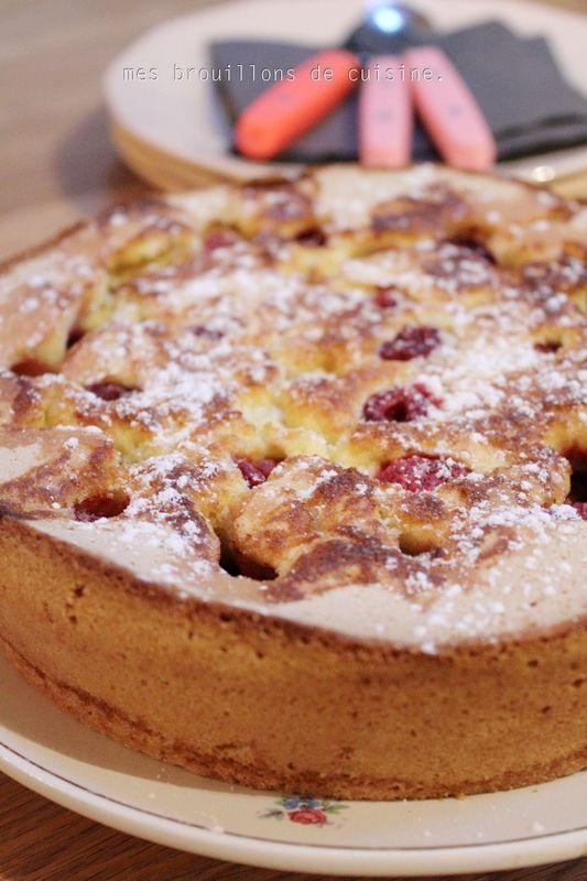 Gâteau à la framboise, trop bon !