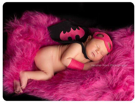 Have Max be Batman!!   Newborn Girl Photography Prop Superhero by pitterpatcrochet, $40.00