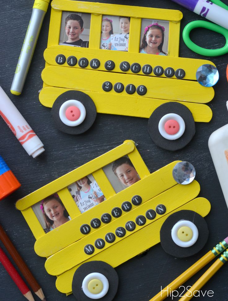 School Bus Craft from Craft Sticks