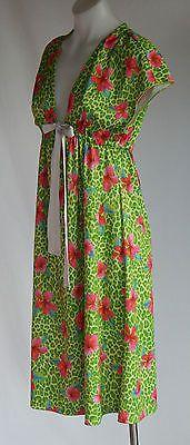 Charlie Brown Hibiscus and Animal Print Summer Dress Sz14
