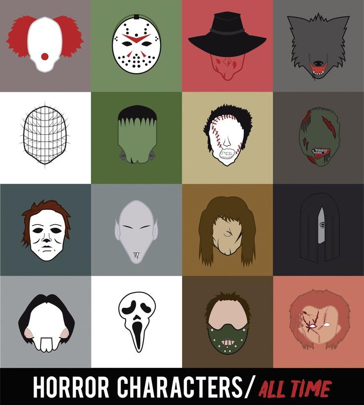 """Proyecto """"Horror"""", abstracción personajes de terror /Digital e Impreso/ 2013"""