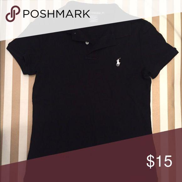 Ralph Lauren Polo Black shirt Short sleeve black polo shirt. Black is not faded! Ralph Lauren Tops