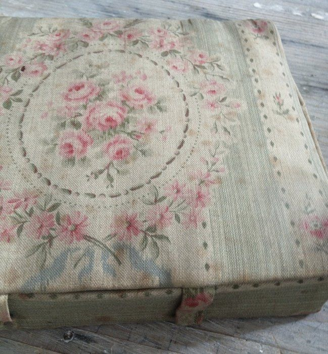French Fabric Box FleaingFrance Brocante Society