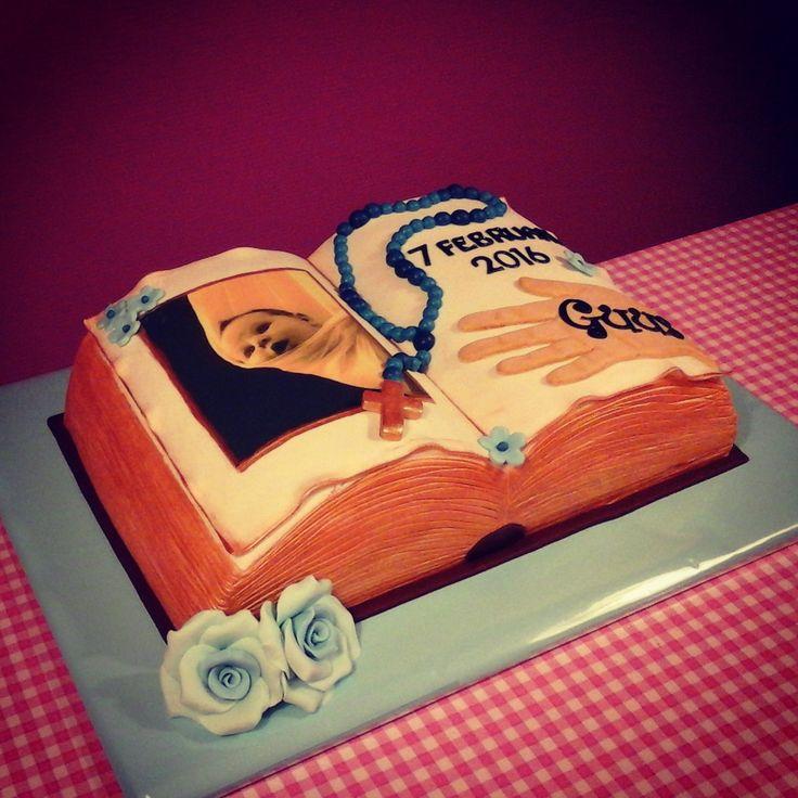 Christening Bible Cake - Dooptaart Bijbel - www.taartvanmanja.nl