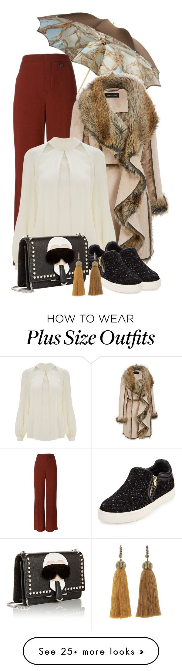"""""""It's a rainy day today """" by chalsouv on Polyvore featuring Persol, Chloé, Temperley London, Ash, Fendi, Lanvin and plus size clothing"""