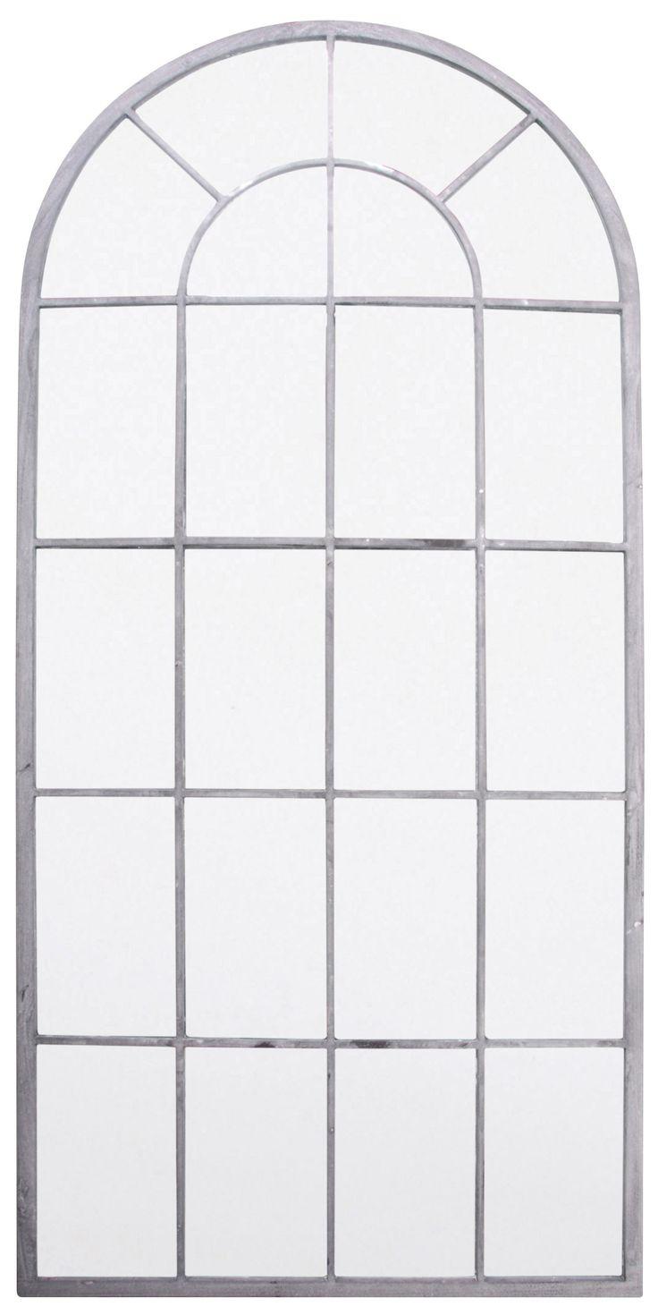 Hoge Gebogen Raam Tuinspiegel, H1.4m x B65cm   Breng de teerheid en intrige van een spiegel in uw tuin, en laat u verrassen door hoe dit uw buitenruimte opent.    Eigenschappen  Spiegel van echt glas voor perfecte reflecties Gepoedercoat metalen frame - bestand tegen ro