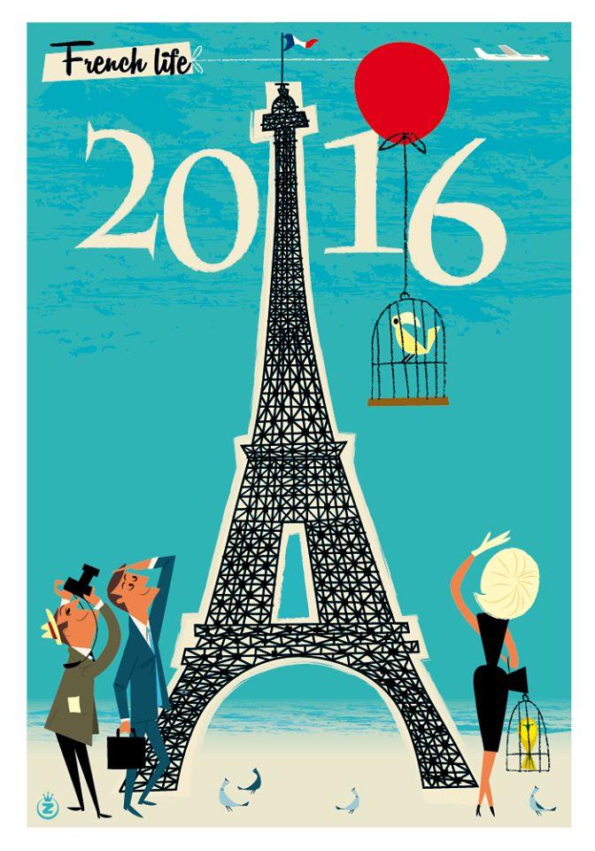 Poster - French Life - Monsieur Z - 2016.