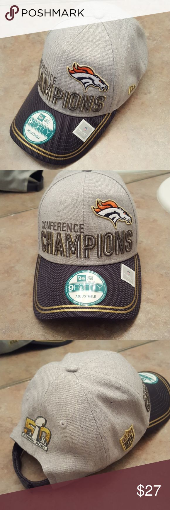 Superbowl 50 Broncos conference Champs new era hat Hello, this is a new with tags, never worn Denver broncos superbowl 50 conference champions hat. It us in mint condition and is a collectors item. New Era Accessories Hats