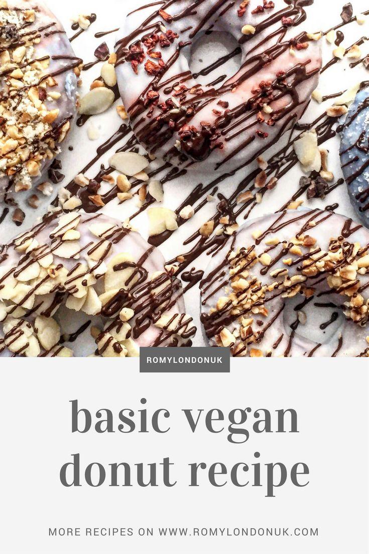 Basic vegan donut recipe  Find more vegan recipes on www.romylondonuk.com