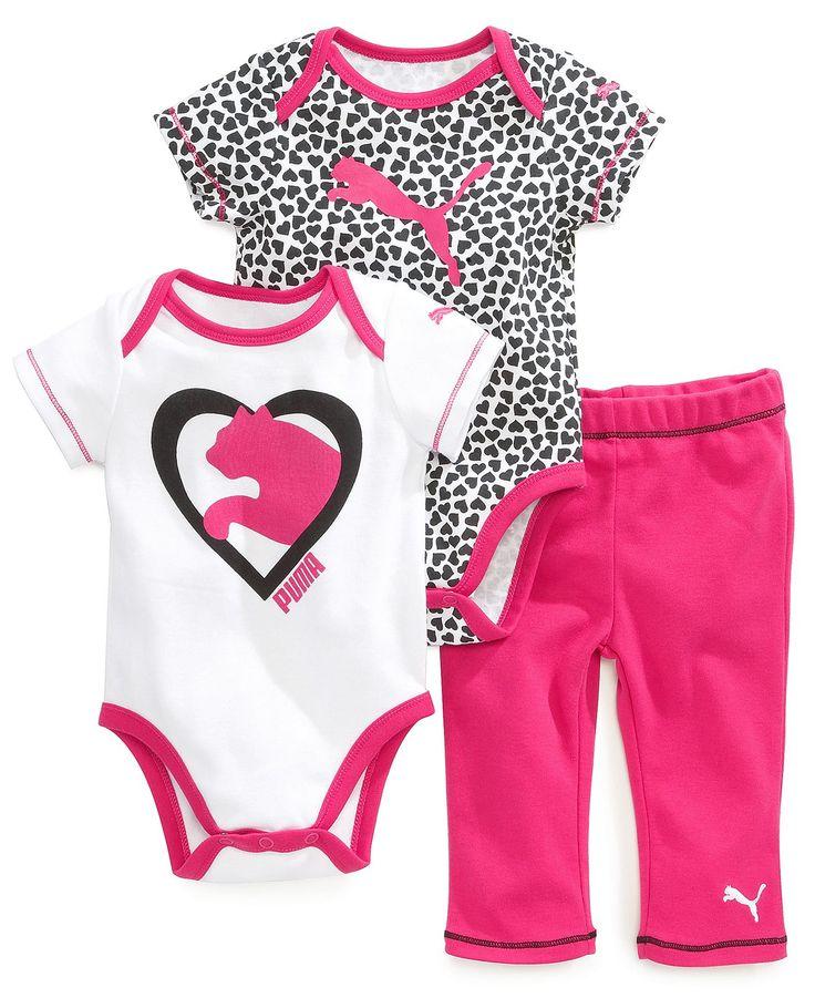 Puma Baby Girls' 3-Piece Heart Set - Kids Baby Girl (0-24 months) - Macy's