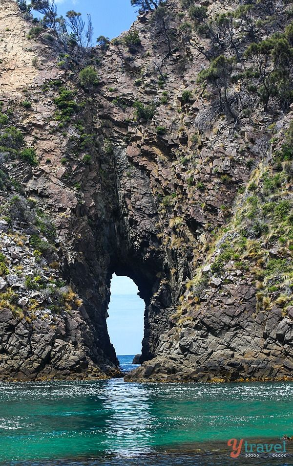 Explore sea caves on a Bruny Island Cruise, Tasmania, Australia