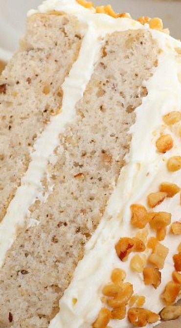 Banana Nut Cake with Cream Cheese Frosting