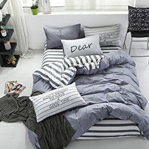 Amazon|布団カバー シングル 3点セット 棉100% 寝具カバーセット 掛け布団カバー ベッドシーツ 1枚枕カバー 四節適用 柔らかい コットン ファスナー式 薄く柔らかくて寝心地が良い シンプルでオシャレ (掛け布団カバー 160*210, グレー)|寝具カバーセット オンライン通販