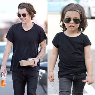 Meet Michael Rangamiz, a half-Iranian, half-Russian toddler, who is giving Harry Styles a run for his money. | This 2-Year-Old Harry Styles Mini-Me Is Showing One Direction How It's Done