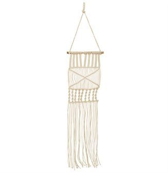 The white wall hanging by the Danish brand Bloomingville is a small tribute to the 1970s, when wall hangings were all the rage. The wall hanging is made of cotton strands knotted with the typical macramé technique and dress up any empty space you may have to fill!