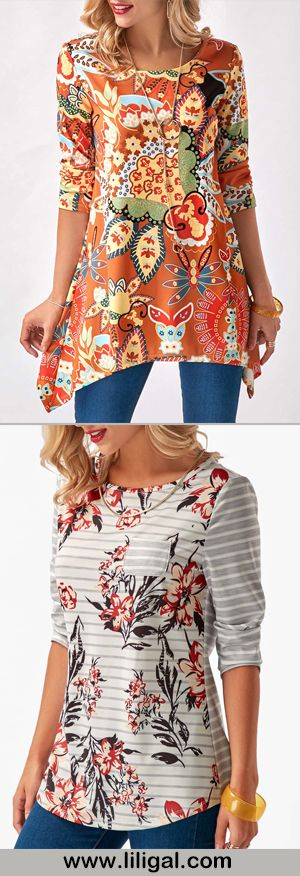 """Not such a fan of the asymmetrical floral blouse  (Short girls don't look good in these styles) tough for me to pull off the length But he secon floral print is a great style especially for those of us who are """"vertically challenged"""" 💁🏻♀️💁🏻♀️💁🏻♀️💁🏻♀️💁🏻♀️"""