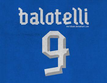 Love the type from Balotelli's jersey!