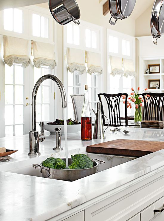 Spacious and Family-Friendly Kitchen Update - Traditional Home®  like the sink and island all one height