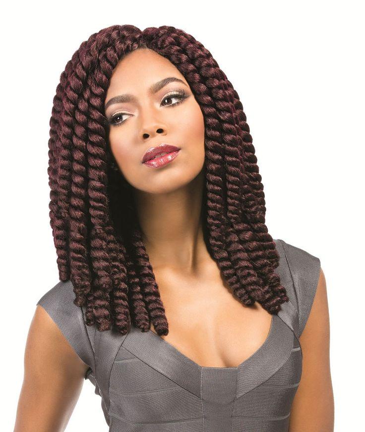 Sensationnel African Collection Crochet Braid MEGA RUMBA TWIST 12 Inch   Ebonyline Braid ...