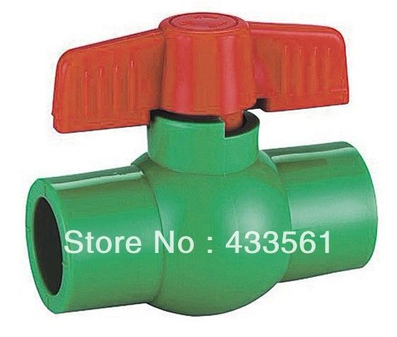 Free shipping Color Green Quality  Enviroment Friendly PPR  ball valve in Size DN20 for Irrigation water pipeline