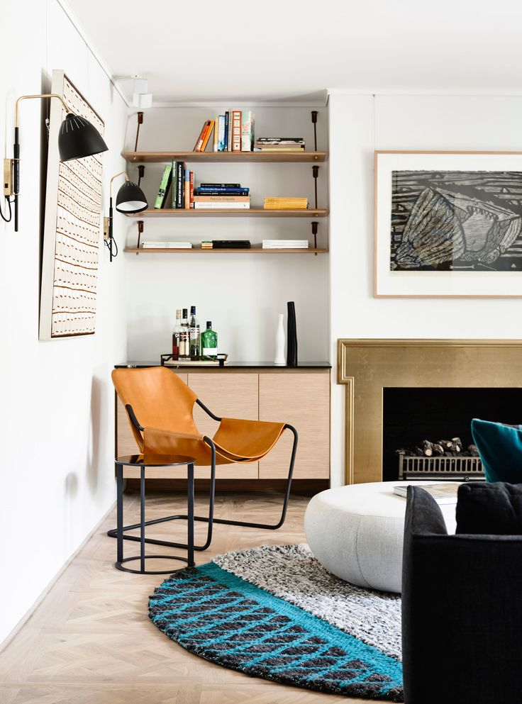 Light Filled Living Space With Bespoke Leather And Brass Details