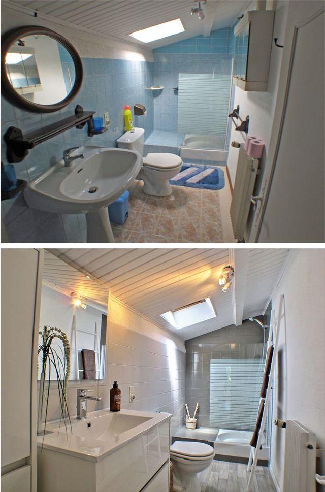 17 meilleures id es propos de relooking de petite salle de bain sur pinterest restaurations. Black Bedroom Furniture Sets. Home Design Ideas