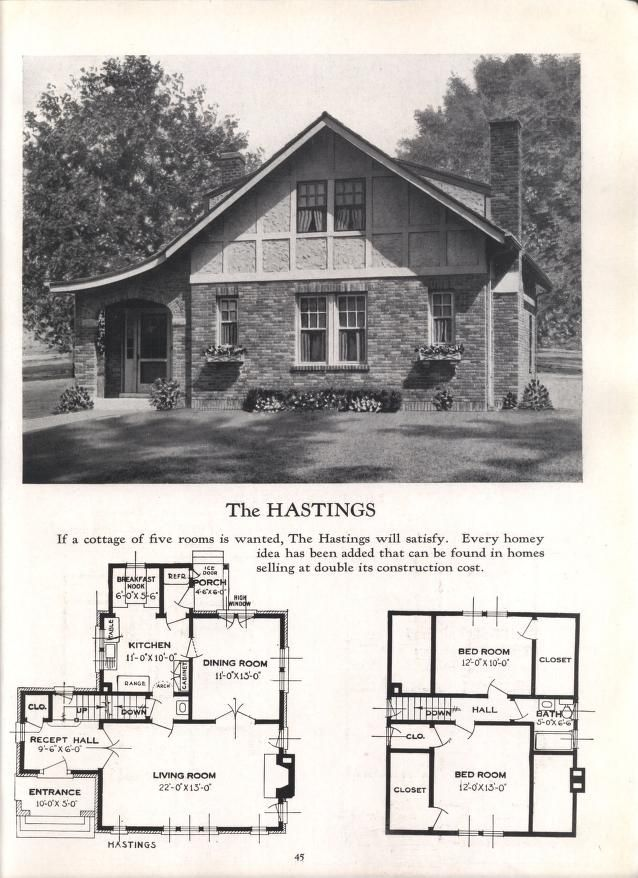 Better Homes At Lower Cost No 17 Craftsman House Plans Vintage House Plans Architectural House Plans