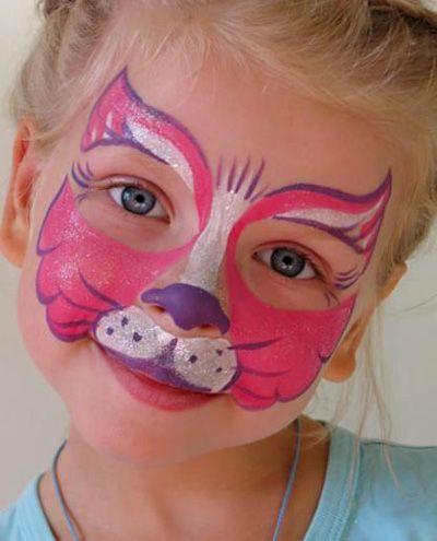 Trucco del viso per Carnevale per bambini da felino