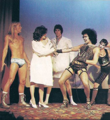 Original Roxy Cast (1974)        Frank N. Furter: Tim Curry      Janet Weiss: Abigale Haness      Brad Majors: B. (Bill) Miller      Columbia: Boni Enten      Rocky Horror: Kim Milford