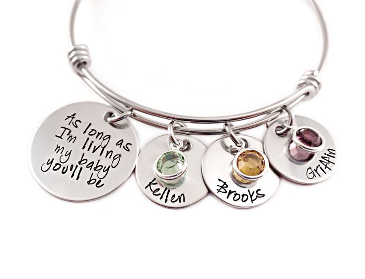 I think I've found what I want for Christmas! As Long As I'm Living My Baby You'll Be Bangle Bracelet