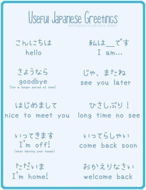 how to speak japanese greetings