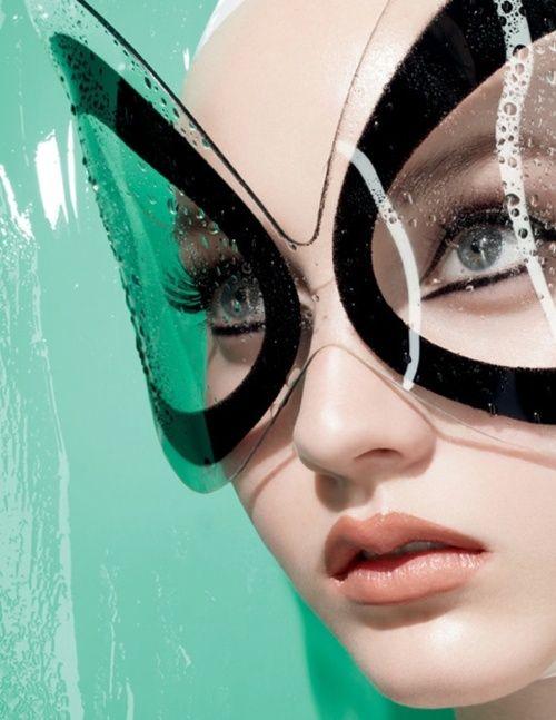 cat woman glasses