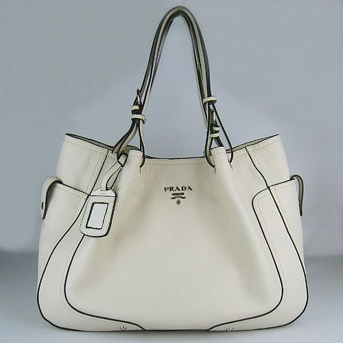 Prada Handbags | prada handbag Prada Soft Calf Shoulder Bags Cream 1811 patent leather ...