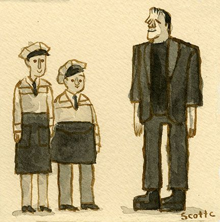 Abbott And Costello Meet Frankenstein By Scott Campbell