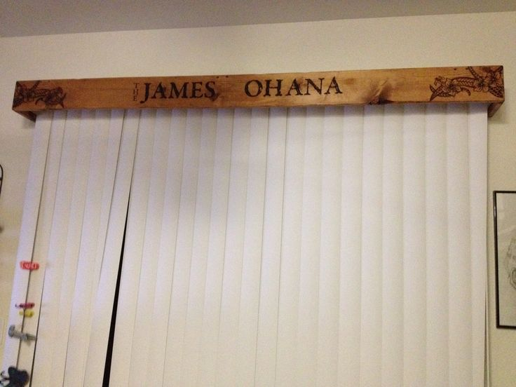 Great Way To Cover Up Those Vertical Blind Covers Wood Burning Pinterest