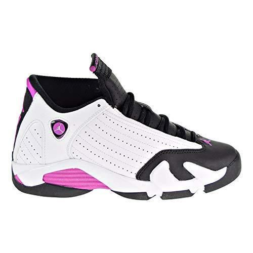 27dcbf0d18059 Air Jordan 14 Retro GG Big Kids' Shoes White 654969-119 (4 M US ...