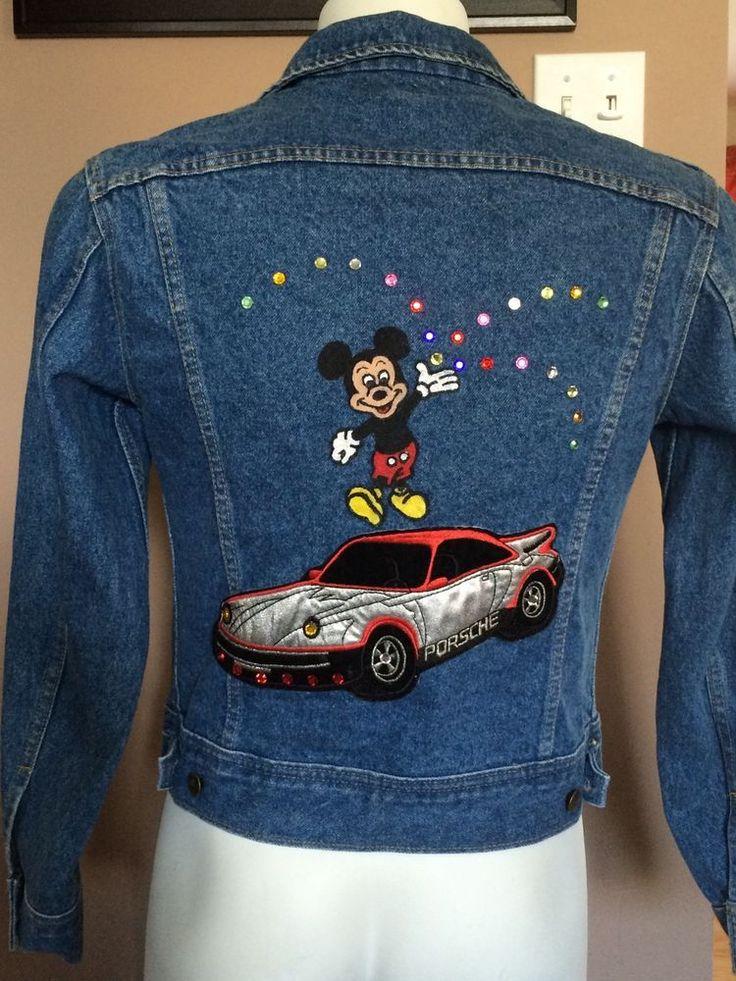Lee Jeans Jacket Rare And Unique Mickey Mouse And Porsche Design Size L EUC